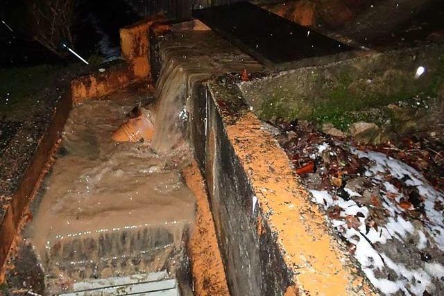 In Schwörstadt ist es wieder zu Überschwemmungen gekommen