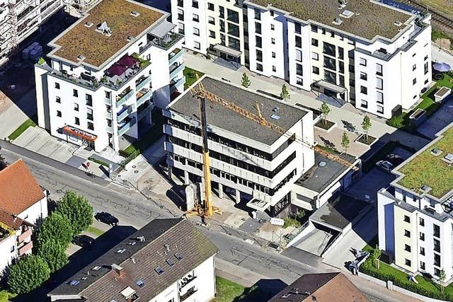 Das neue Ärztehaus in Schopfheim nimmt Form an