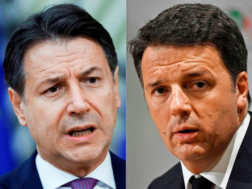Zwei, die nicht miteinander können: de...a hat das Regierungsbündnis verlassen.  | Foto: OLIVIER HOSLET, ANDREAS SOLARO (AFP)