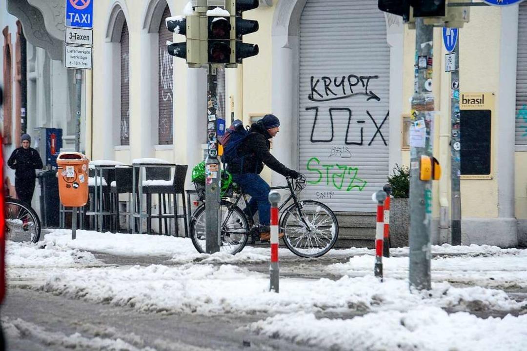 Schnee in der Eschholzstraße  | Foto: Ingo Schneider
