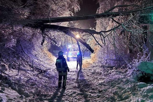 Nach Wintereinbruch im Markgräflerland: Viele, aber glimpfliche Einsätze