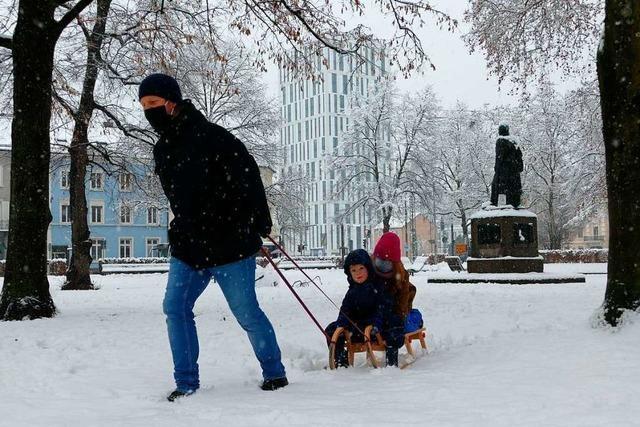 So viel Schnee gibt es in Lörrach selten – das bringt Freude und Probleme