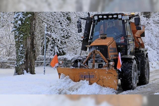 Im Dauereinsatz gegen Schnee und Eis