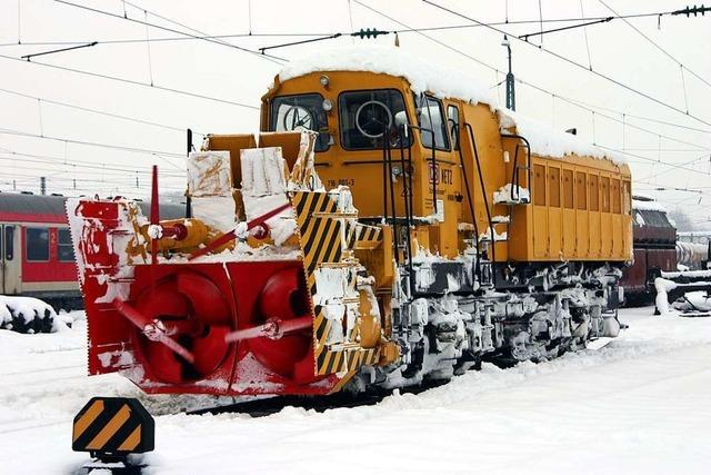 Schnee sorgt in der Region rund um Freiburg für Zug- und Stromausfälle