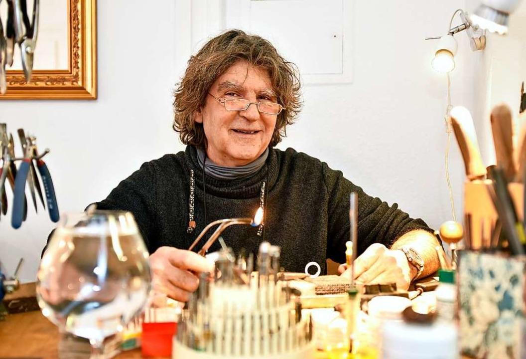 Stéphane Prunier in seiner Werkstatt  | Foto: Thomas Kunz