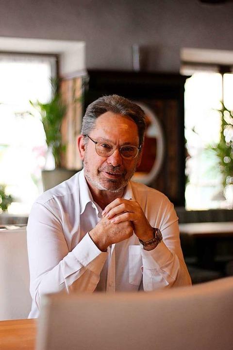 Bernhard Sehrer verabschiedet sich als Wirt des Gasthaus Löwen in den Ruhestand.  | Foto: Erika Sieberts
