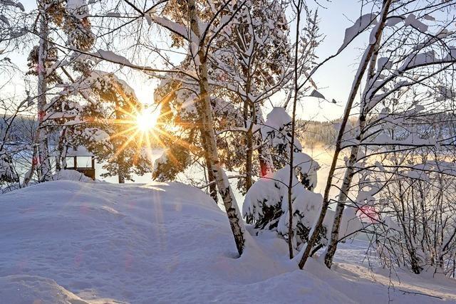 Tiefer Winter, hohe Schneeberge