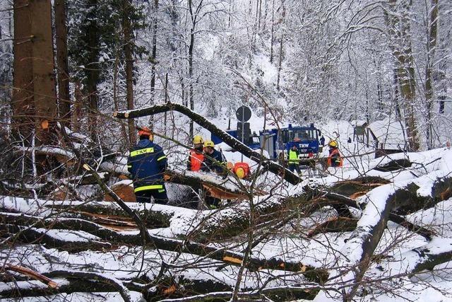 Die derzeitige Winterpracht erinnert das THW Lahr an das Schneechaos vor 15 Jahren