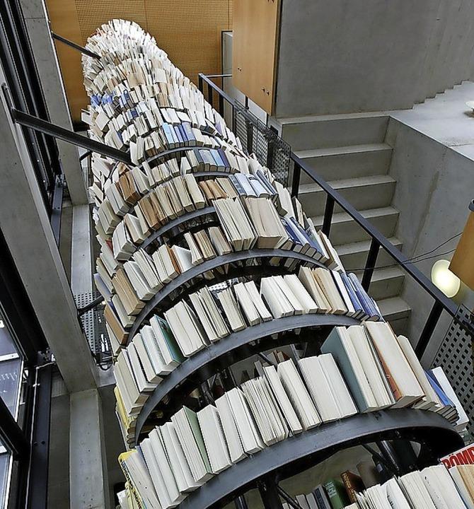 """Flüsterturm"" in der Stadtbibliothek  | Foto: Chris Heck"