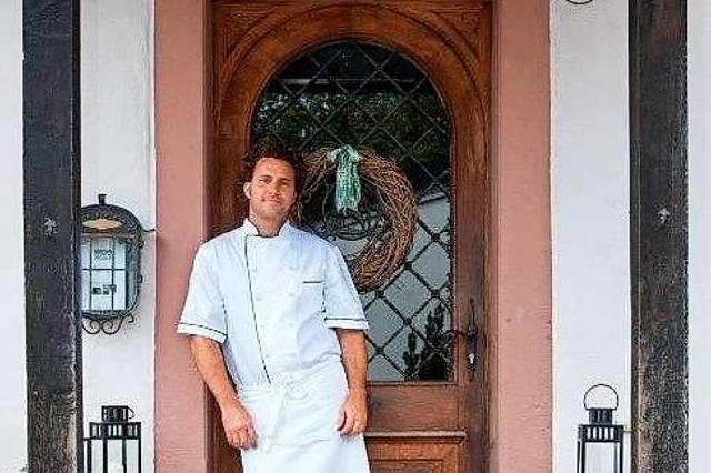 Marc Isaak vom Gasthaus Hirschen in Merzhausen empfiehlt, ausgiebig zu kochen