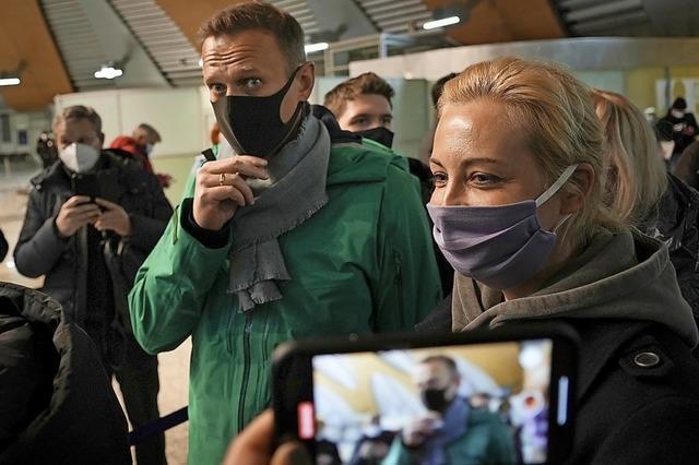 Nawalny in Moskau festgenommen