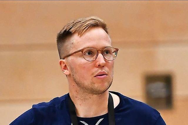 Jakob Schönhagen nach dem packenden Derby gegen Karlsruhe;