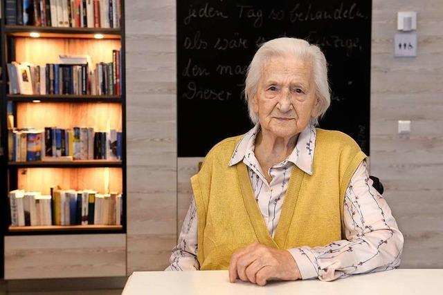 Die Freiburgerin Anna Kohl feiert an diesem Montag ihren 105. Geburtstag