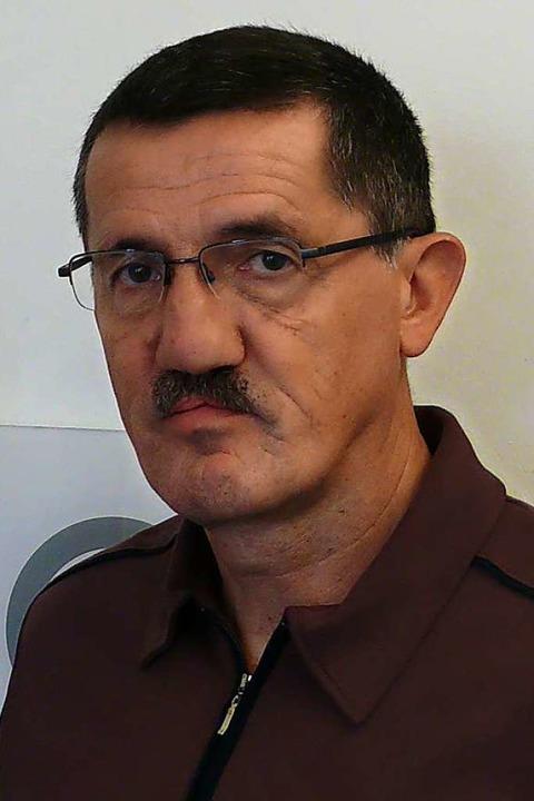 Jürgen Schwarz bei einem Pressetermin der Gemeinde im Jahr 2018.  | Foto: Gemeinde