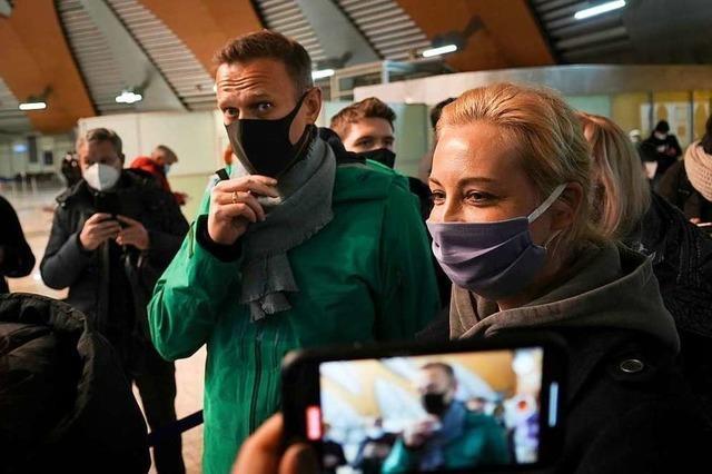 Kremlgegner Nawalny nach Rückkehr zu 30 Tagen Haft verurteilt