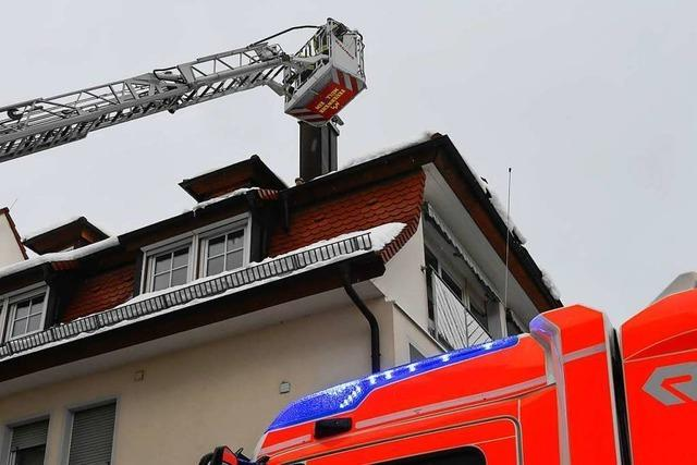 Feuerwehreinsatz wegen eines Kaminbrands in der Goethestraße
