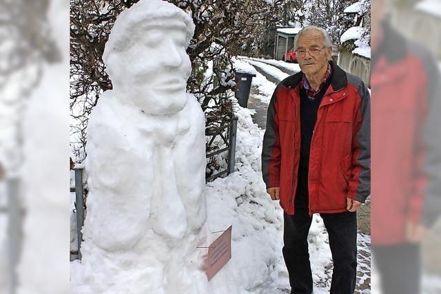 Kreativ mit Schnee