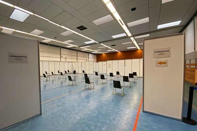 Update: Impftermine für die Rheintalhalle in Lahr können jetzt gebucht werden