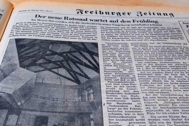 1971 war Schluss mit der Enge im Freiburger Ratssaal
