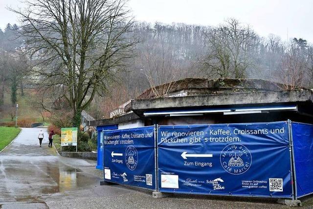 Das Café Marcel im Freiburger Stadtgarten wird renoviert