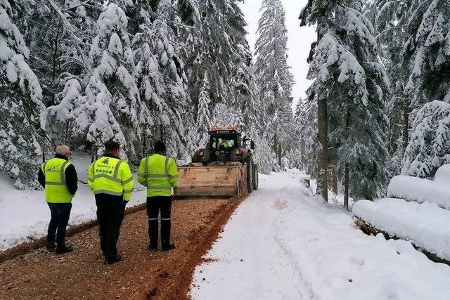 Schnee bremst den Bau des Windparks am Hohenlochen aus