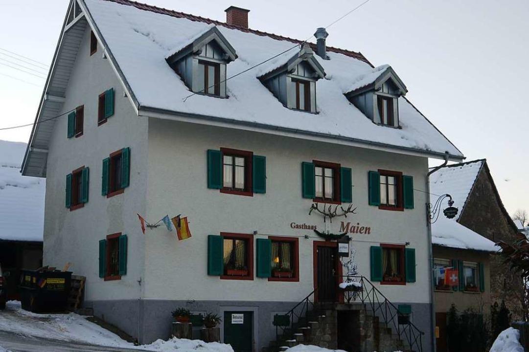 Das Gasthaus Maien in Vogelbach soll wiederbelebt werden.  | Foto: Rolf-Dieter Kanmacher
