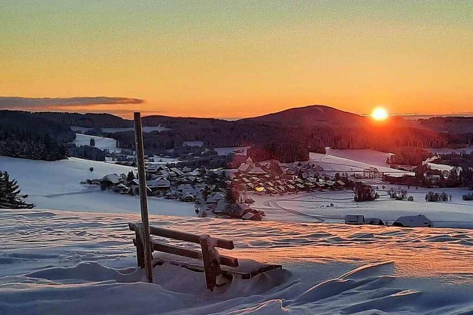 Sonnenaufgang bei Breitnau (Foto: Ute Helmle)