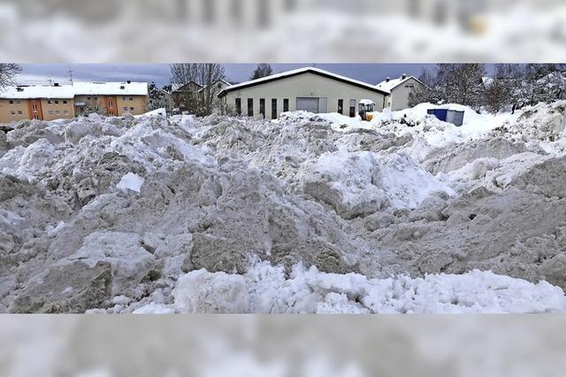 Schneemassiv