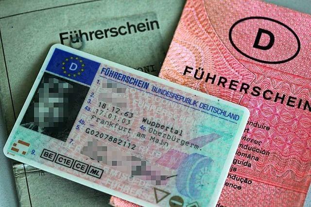 Der alte Führerschein muss bald umgetauscht werden