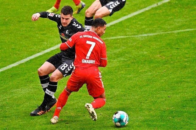 Baptiste Santamaria könnte gegen Frankfurt vielleicht doch spielen