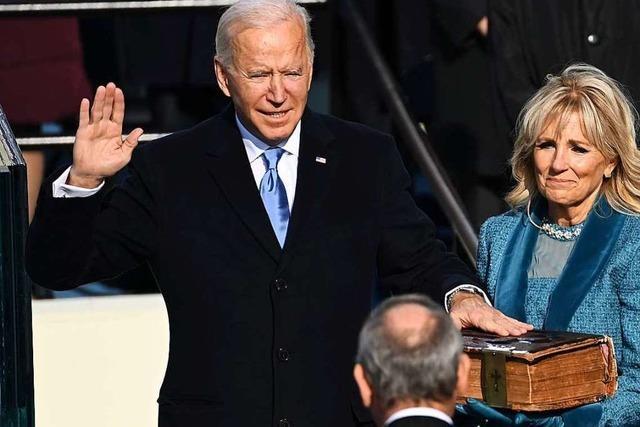 Joe Biden und Kamala Harris legen ihren Amtseid ab