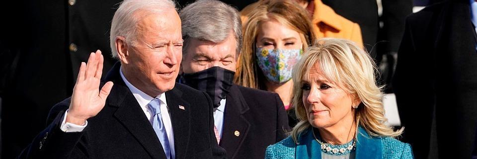 Joe Biden als 46. Präsident der Vereinigten Staaten vereidigt