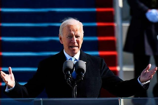 US-Präsident Joe Biden beschwört die Einheit Amerikas