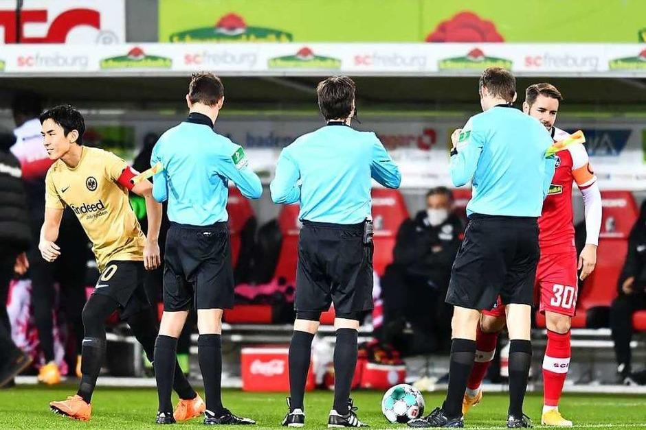 Gegen Eintracht Frankfurt kann der SC Freiburg im letzten Spiel der Hinrunde ein umkämpftes 2:2-Unentschieden erringen. (Foto: Achim Keller/SC Freiburg)