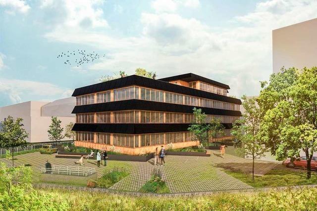 In Lörrach entsteht ein Bürohaus, das sich energetisch nahezu selbst versorgt