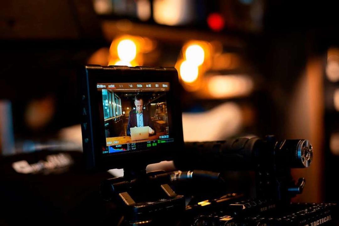 Blick durch die Kamera: Alexej Nawalny...im Black Forest Studio in Kirchzarten.  | Foto: privat