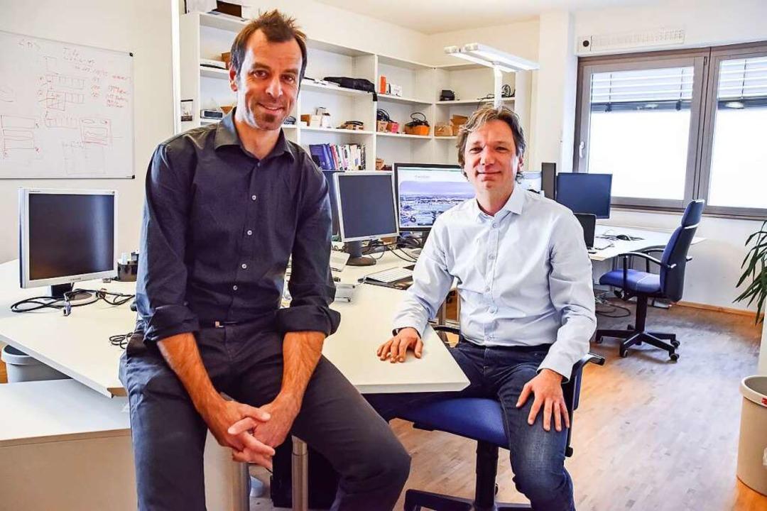 Die Mondas-Gründer Christian Neumann (...ojekt wurde ein marktfähiges Produkt.   | Foto: Triolog