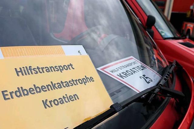 Dritter Feuerwehr-Konvoi bringt Wohncontainer nach Kroatien