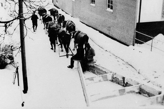 Winterdienst vor 85 Jahren
