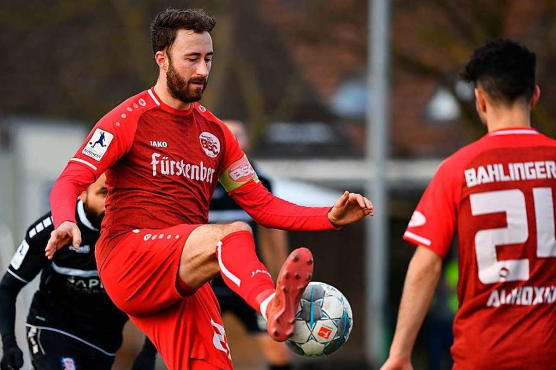 Beim 0:0 gegen Frankfurt überzeugte Tobias Klein mit großer Ballkontrolle.    Foto: Claus G. Stoll
