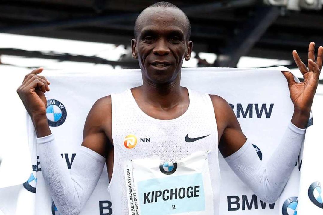 Eliud Kipchoge, dreifacher Sieger des Berlin-Marathons (2015, 2017, 2018)  | Foto: MICHELE TANTUSSI