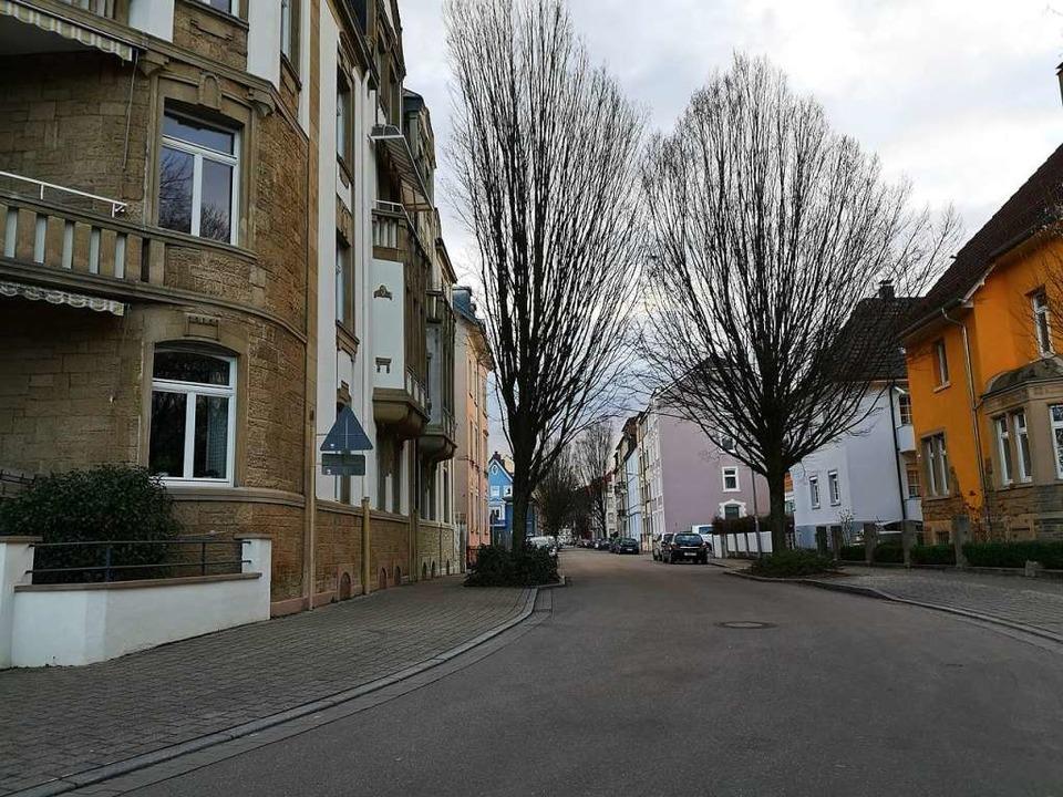 Die Franz-Volk-Straße an der Stelle, a...ls teil der Fahrradstraße werden soll.  | Foto: Ralf Burgmaier