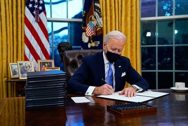 Joe Biden legt einen präsidialen Blitzstart hin