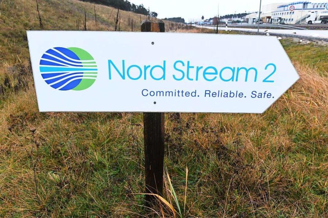 Der Bau von Nord Stream 2 sollte auf E...t gewählt wird, neu besprochen werden.  | Foto: Stefan Sauer (dpa)