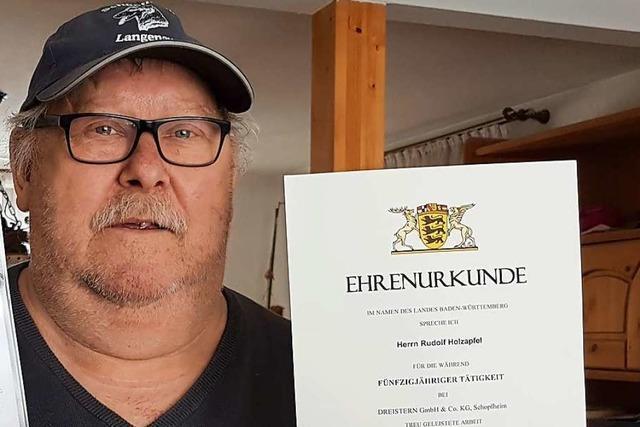 Rudolf Holzapfel arbeitete 50 Jahre lang bei der Schopfheimer Firma Dreistern