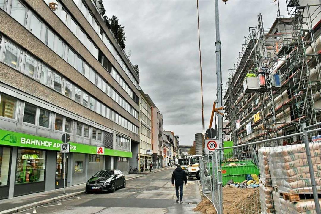 Die Verlängerung der Fußgängerzone in die Palmstraße ist nicht unumstritten.  | Foto: Barbara Ruda