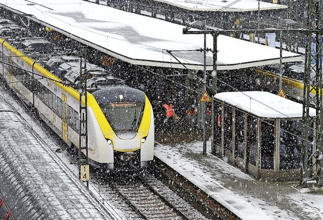 Die Breisgau-S-Bahn hat weiterhin Probleme – nicht nur, wenn es schneit.   | Foto: Ingo Schneider