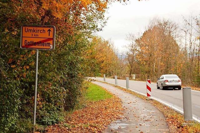 Gottenheim und Umkirch wollen zu schmalen Radweg selbst ausbauen – wenn Zuschüsse fließen