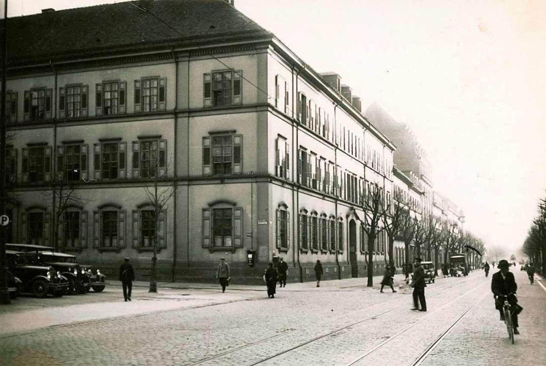 Das Amtsgerichtsgebäude in Freiburg in den 1930ern  | Foto: Stadtarchiv Freiburg