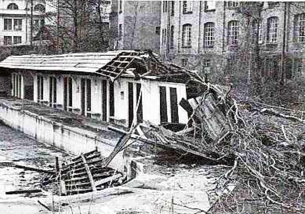 Folgen des Hochwassers    Foto: Karl Bäppler
